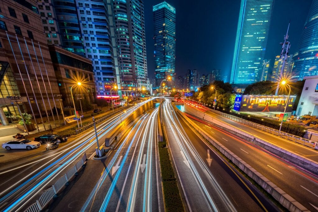 5G in Business - Picture of a city